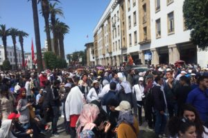 Moroccan teachers protest low wages, temporary contracts