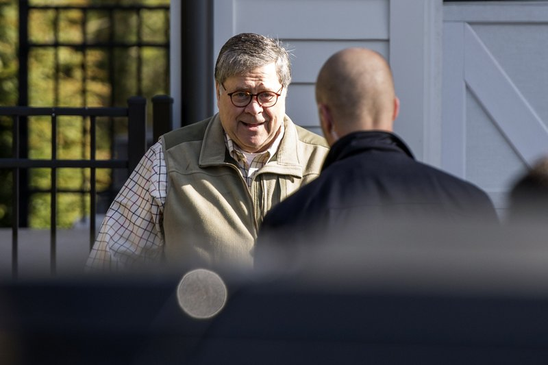 Attorney General William Barr leaves his home in McLean, Va., on Sunday morning, March 24, 2019. Barr is preparing a summary of the findings of the special counsel investigating Russian election interference. (AP Photo/Sait Serkan Gurbuz)