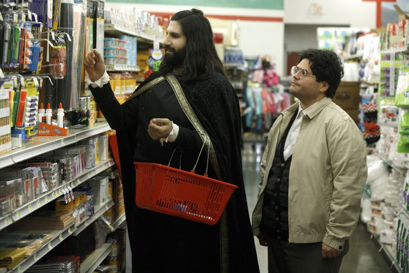 This image released by FX shows Kayvan Novak and Harvey Guillen, right, in a scene from