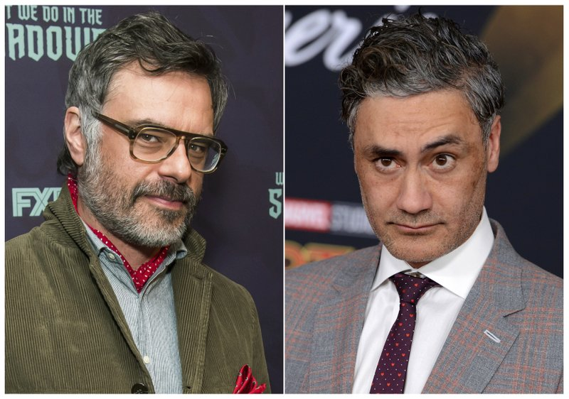 This combination photo shows Jemaine Clement at the premiere of FX's