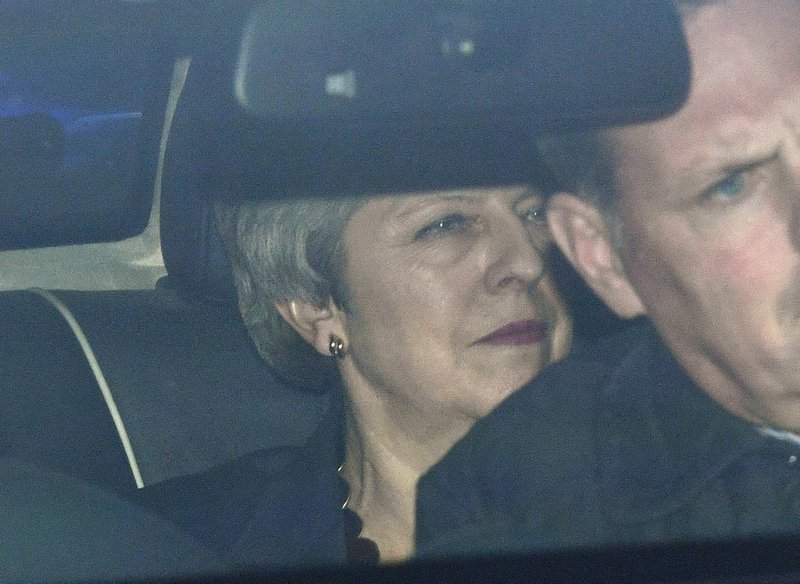 Britain's Prime Minister Theresa may leaves the Houses of Parliament, on the day that MPs will be asked to consider a range of alternative Brexit options after Parliament seized control of the Commons agenda to force a series of