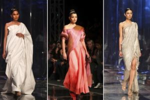 Photos: Saris stand out on Indian fashion runway