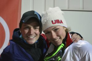 Skiing bonds Shiffrin and Paralympian who overcame cancer
