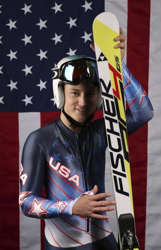 FILE - In this Sept. 26, 2017, file photo, United States Olympic Winter Games Paralympic Alpine skier Thomas Walsh poses for a portrait at the 2017 Team USA Media Summit, in Park City, Utah. (AP Photo/Rick Bowmer, File)