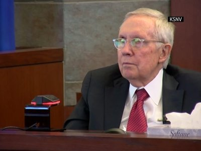 Former U.S. Sen. Harry Reid testified Thursday in his negligence lawsuit against the maker of an exercise device. (March 28)