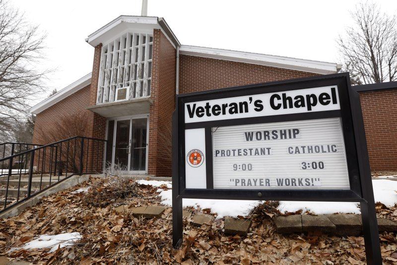 The Veteran's Chapel sits closed on the Veterans Affairs campus, Tuesday, March 12, 2019, in Knoxville, Iowa. (AP Photo/Charlie Neibergall)