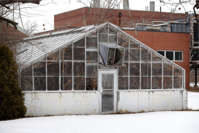 An empty greenhouse is seen on the Veterans Affairs campus, Tuesday, March 12, 2019, in Knoxville, Iowa. (AP Photo/Charlie Neibergall)