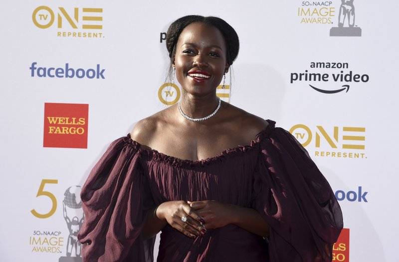 Lupita Nyong'o arrives at the 50th annual NAACP Image Awards on Saturday, March 30, 2019, at the Dolby Theatre in Los Angeles. (Photo by Richard Shotwell/Invision/AP)