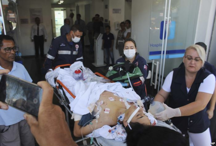 A teenager who was injured during a shooting inside the Raul Brasil State Sch