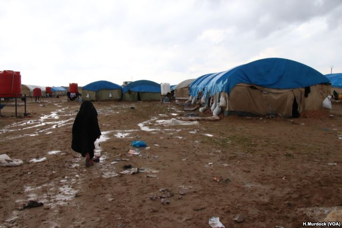 Aid organizations say the camp is overcrowded, and short of food, medical sup