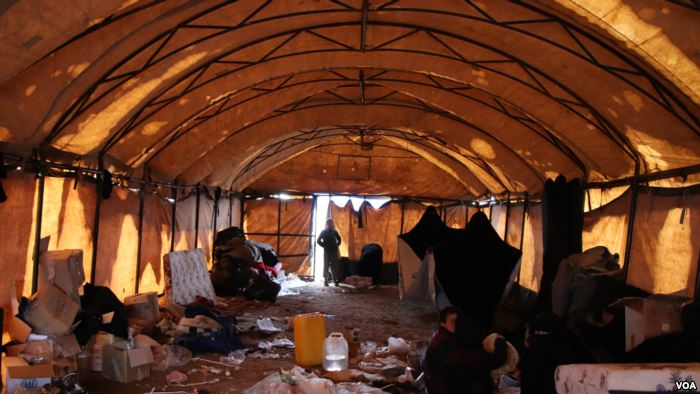 Al-Hol camp does not have enough small tents to house new arrivals, so many c