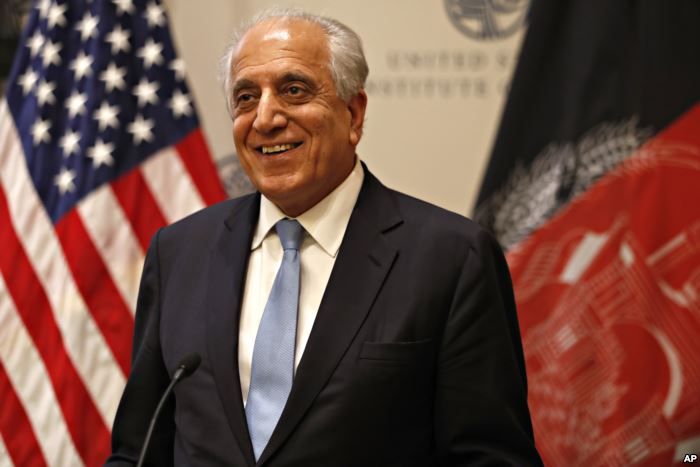 FILE - Special Representative for Afghanistan Reconciliation Zalmay Khalilzad