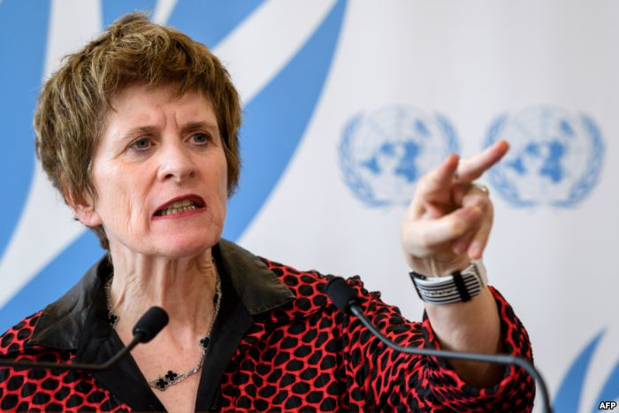 FILE - United Nations Deputy High Commissioner for Human Rights, Kate Gilmore