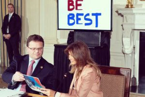 "First lady looks for ways bureaucracy can advance ""Be Best"""