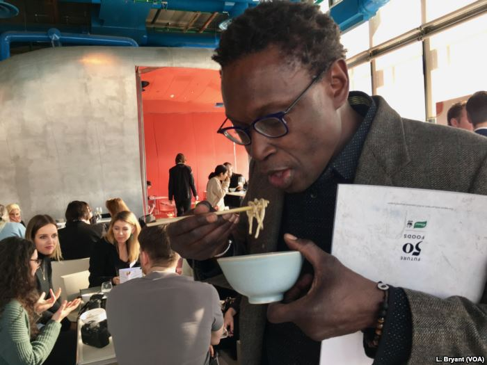 "Senegalese chef Pierre Thiam attends a ""Future 50 Foods"" tasting at"