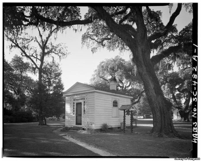 The kitchen building on the Chicora Wood Plantation in Georgetown County, Sou