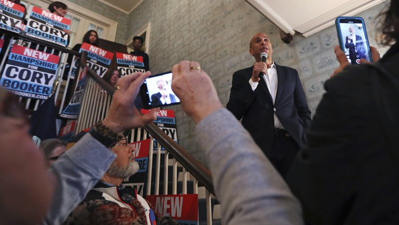 FILE - In this March 15, 2019, file photo, Democratic presidential candidate Sen. Cory Booker, D-N.J. (AP Photo/Charles Krupa, File)