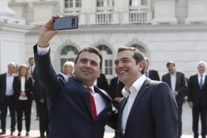 Leaders of Greece, North Macedonia snap historic selfie