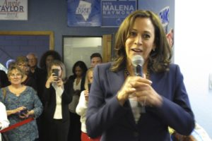 Update: Harris stumps in Nevada, says she's a fighter