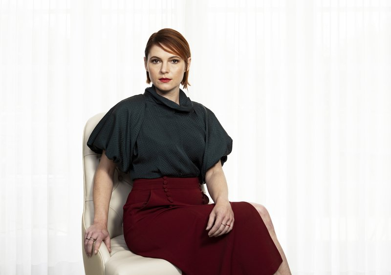 This March 19, 2019 file photo shows Amy Seimetz posing for a portrait to promote her film