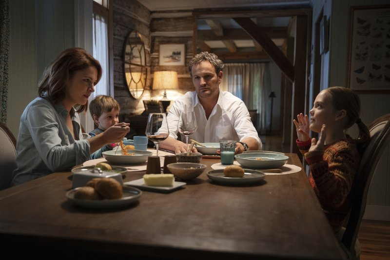 This image released by Paramount Pictures shows Amy Seimetz, from left, Hugo Lavoie, Jason Clarke and Jeté Laurence in a scene from