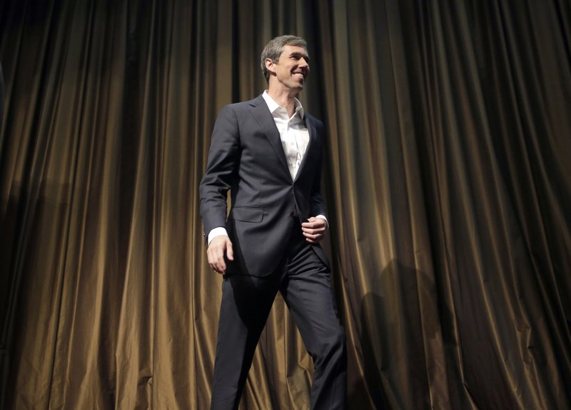 Democratic presidential candidate and former Texas congressman Beto O'Rourke leaves the stage after speaking during the National Action Network Convention in New York, Wednesday, April 3, 2019. (AP Photo/Seth Wenig)