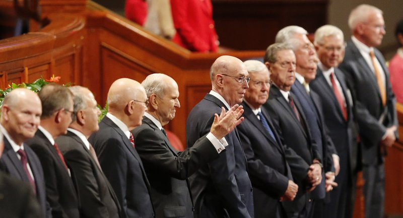 FILE - In this Oct. 6, 2018, file photo, The Church of Jesus Christ of Latter-day Saints President Russell M. (AP Photo/Rick Bowmer, File)