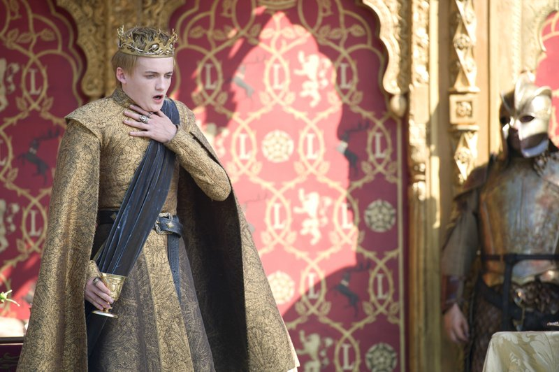 This image released by HBO shows Jack Gleeson portraying Joffrey Baratheon in a scene from