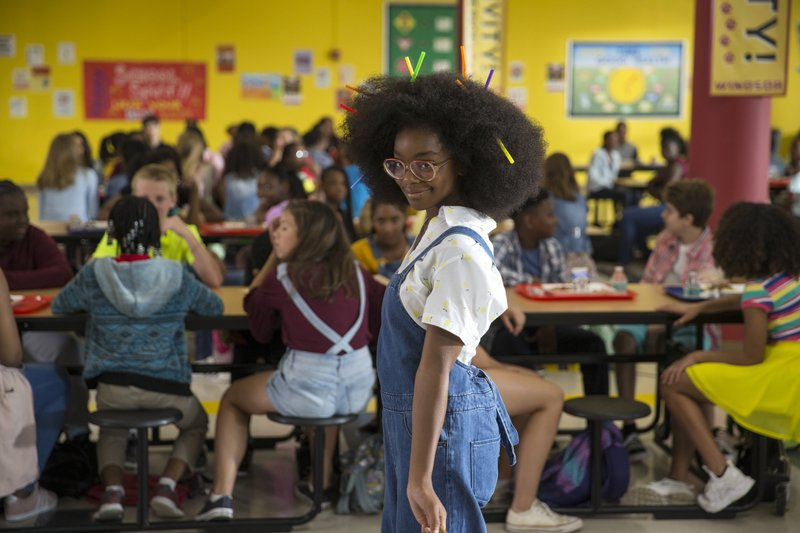 This image released by Universal Pictures shows Marsai Martin in a scene from