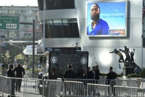 Fans arrive for rapper Nipsey Hussle's Los Angeles memorial