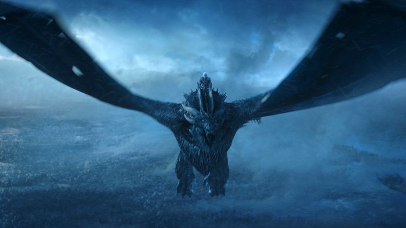 This image released by HBO shows Vladimir Furdik as The Night King on the season finale of