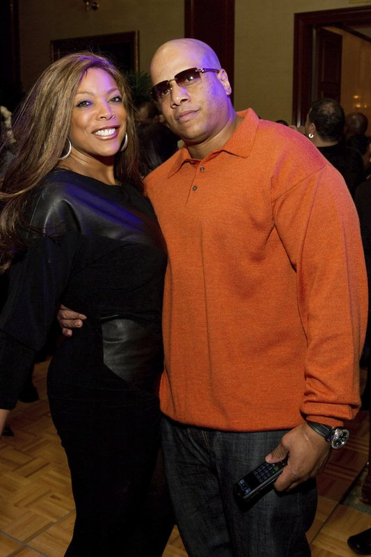 FILE - This March 25, 2011 file photo shows Wendy Williams and her husband Kevin Hunter at Aretha Franklin's 69th birthday party in New York. (AP Photo/Charles Sykes, File)
