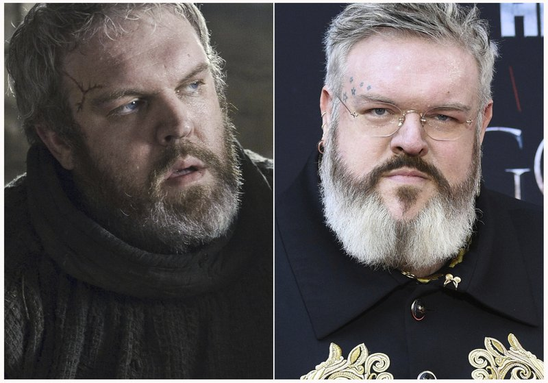 This combination photo shows Kristian Nairn at HBO's