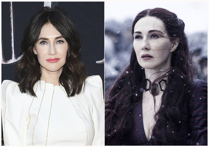 This combination photo shows Carice van Houten at HBO's