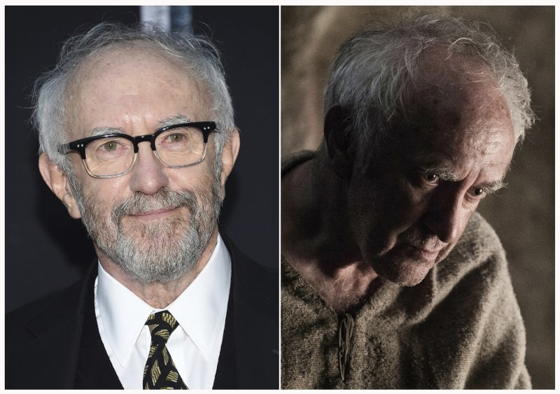 This combination photo shows Jonathan Pryce at HBO's