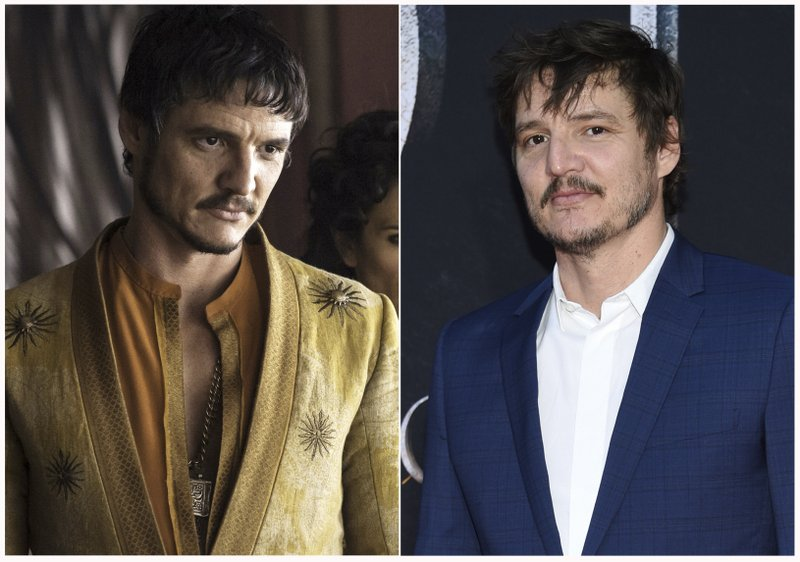 This combination photo shows Pedro Pascal at HBO's
