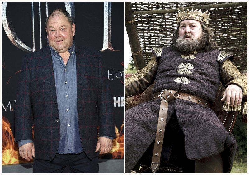 This combination photo shows Mark Addy at HBO's
