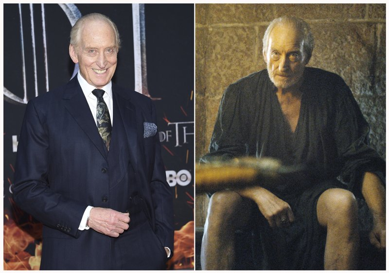 This combination photo shows Charles Dance at HBO's