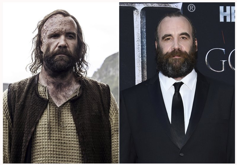This combination photo shows Rory McCann at HBO's