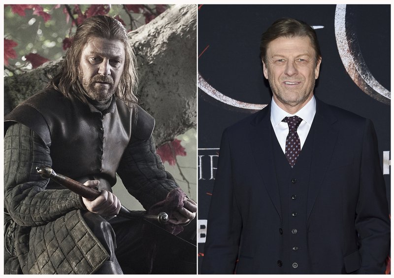 This combination photo shows Sean Bean at HBO's