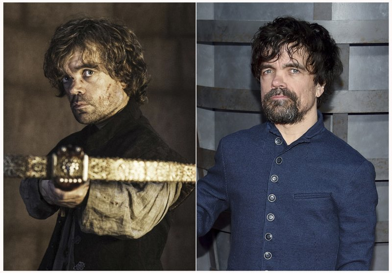 This combination photo shows Peter Dinklage at HBO's