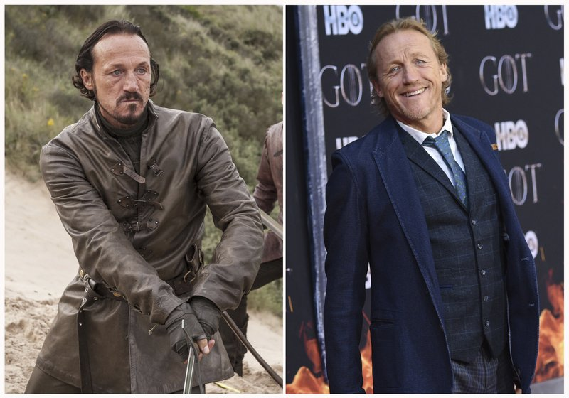 This combination photo shows Jerome Flynn at HBO's