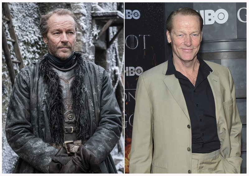 This combination photo shows Iain Glen at HBO's