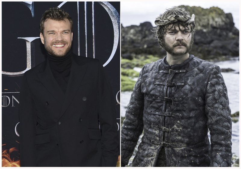 This combination photo shows Pilou Asbæk at HBO's