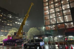 Worker killed by falling crane counterweight in NYC