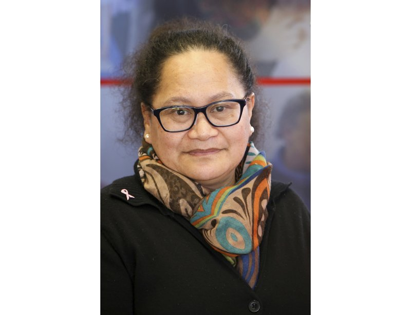 This undated photo released by International Committee of the Red Cross, the organization's New Zealand nurse Louisa Akavi. (International Committee of the Red Cross via AP)