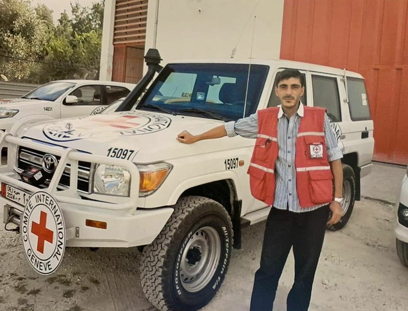 This undated photo provided on Monday, April 15, 2019, by International Committee of the Red Cross shows Syrian driver Nabil Bakdounes. (International Committee of the Red Cross via AP)