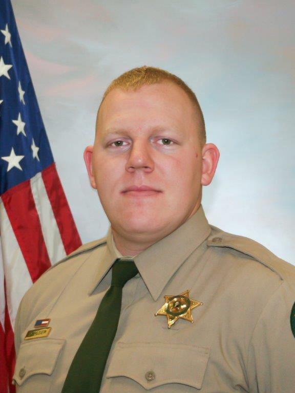 Cowlitz County Sheriff's Office Deputy Justin DeRosier, 29, was shot and killed Saturday, April 13, 2019, while checking on a disabled vehicle northeast of Kalama, Wa. (Cowlitz County Sheriff's Office/The Columbian via AP)
