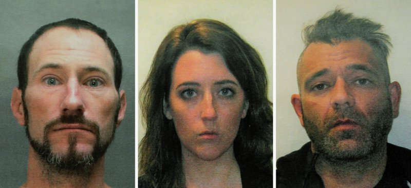 FILE - This November 2018 file combination of photos provided by the Burlington County Prosecutors office shows Johnny Bobbitt, left, Katelyn McClure and Mark D'Amico. (Burlington County Prosecutors Office via AP, File)