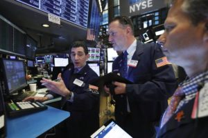 US stock indexes edge lower in morning trading